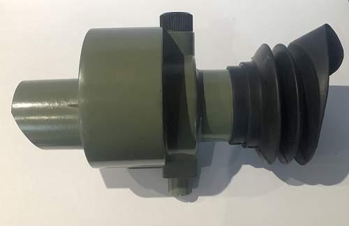 Yugoslavian ZRAK ON-M59 sight for MG53 tripod or M57 rocket launcher