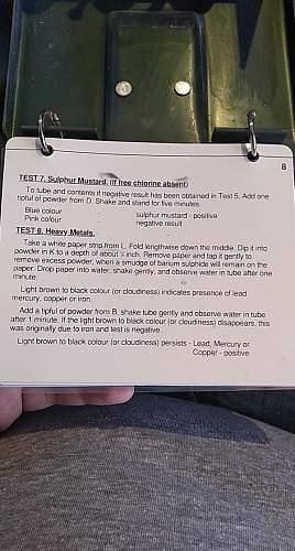 British/NATO Water testing Kit Poisons No.2 Mk 1