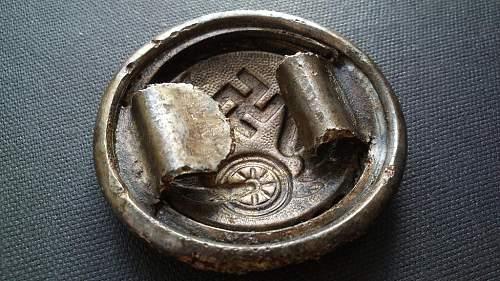 Ground dug Deutsche Reichsbahn buckle
