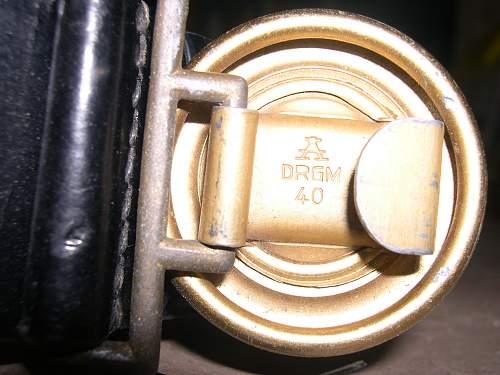 Reichsbahn belt & buckle