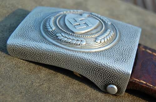 RAD - G. BREMMER 1937 Aluminum Buckle w Tab