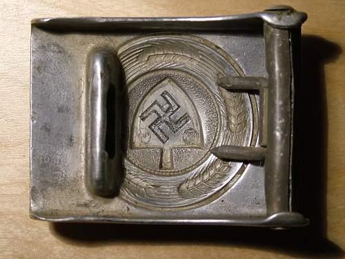 Denazified aluminium RAD koppelschloss - maker?