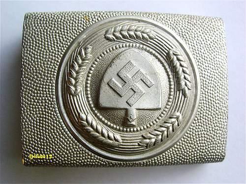Reichsarbeitsdienst Parade buckle
