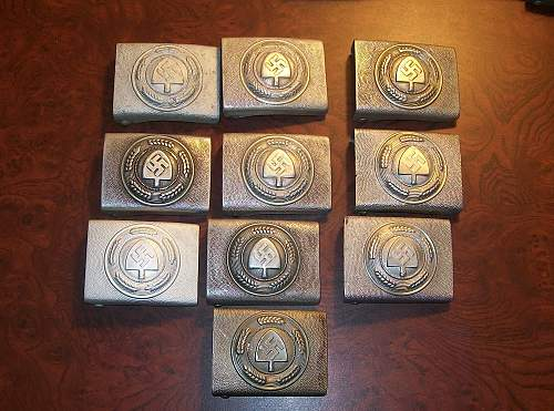 Collection of RaD buckles