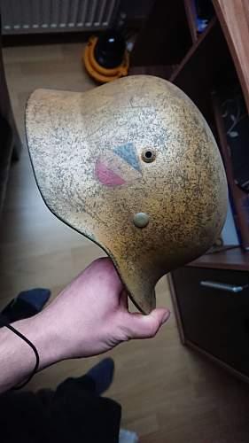 reject helmet used for Luftschutz