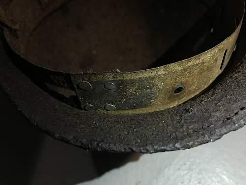 WW2 Org. Todt Helmet Relic!