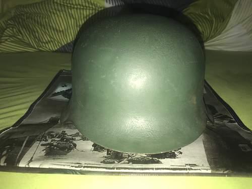 Original M42 helmet from WW2 used by the west german Bundespolizei