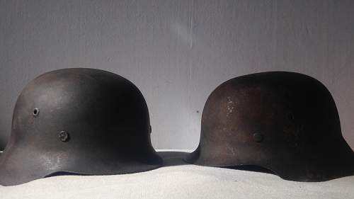 NS64 early ND M42 helmet semi-relic