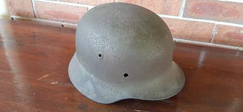 Cammo? Luftwaffe helmet shell - named to transport soldat