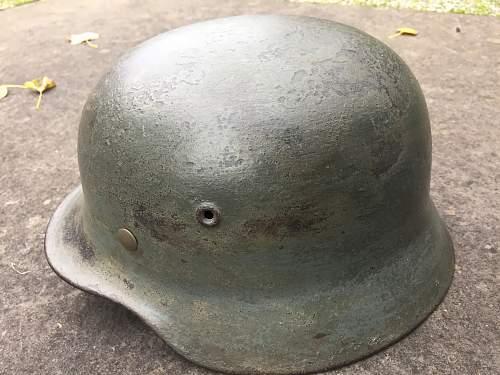 My new Italian front (?) M40 helmet.