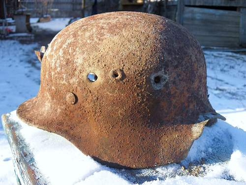 German helmet from Stalingrad