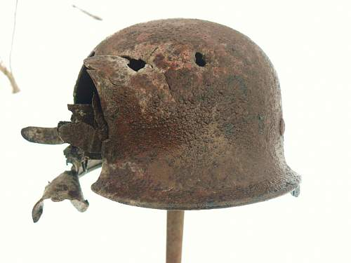 German helmet from Stalingrad