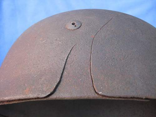 Relic Para Helmet Battle Damaged