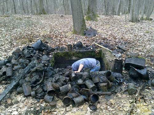 Wwi treasue chest in the woods!