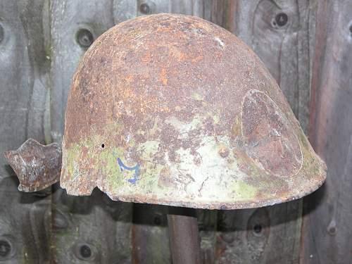Don Front, Stalingrad. Romanian M38 Helmets