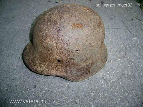 Relic M40 shell, my second German helmet ever:)
