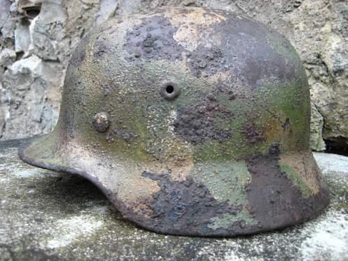 M40 camo helmet from Kurland pocket