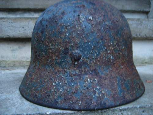 Another M40 helmet -My grab grab from sandy ground(inter camo remains)