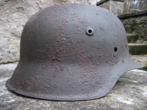 two M42 relic helmets from -NORDLAND's positions