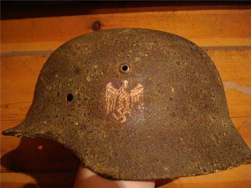 German relic helmet