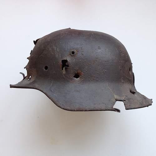 My relic German helmet