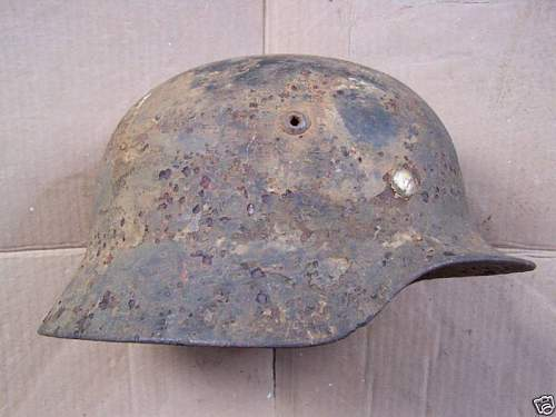Single decal German Army helmet from St Lo.