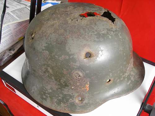 Here are some of my Battle damaged helmets
