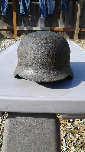 My first helmet cleaned up -Dugged in Russia