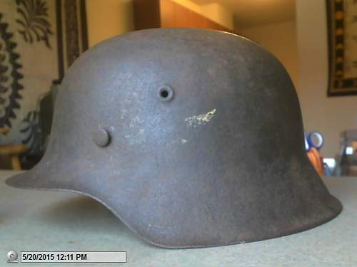 My m40 heer helmet named and unit marked 385th id