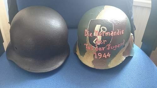 Painted relic helmet
