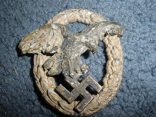 Ground dug Luftwaffe Beobachterabzeichen