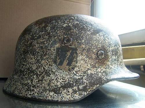 M40 SS Winter camo helmet cleaning
