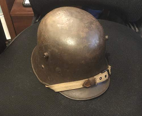 World War One Austrian Helmet - Advice on removing and replacing original split pins