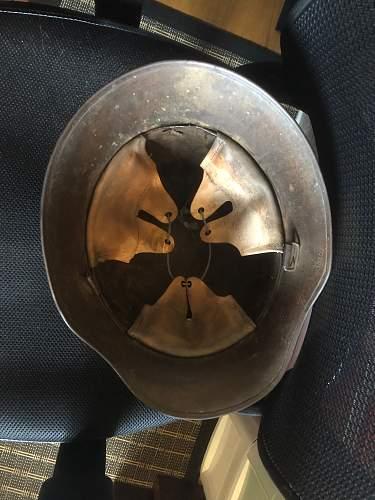 World War One Austrian Helmet - Advice on removing and replacing original split pins