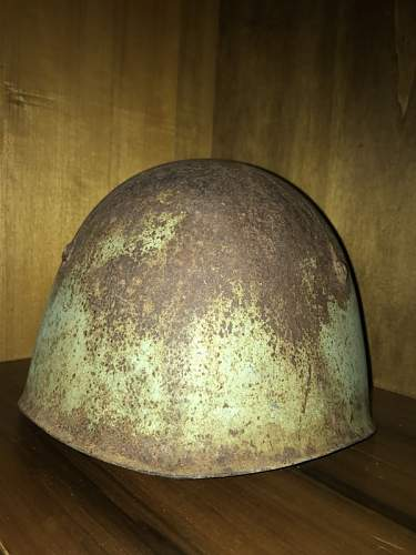 Restoration of a M33 Relic Helmet from Sicily 1943