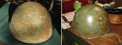 Angle of attack on a helmet that has period paint on it