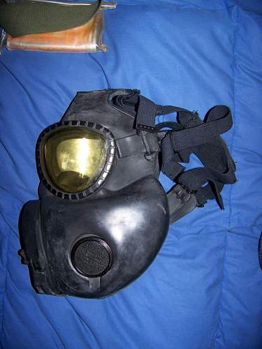 Cleaning M17 gas mask