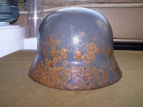 M35 helmet ground found and cleaned