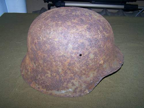 M 42 German helmet- refreshed from the surface rust