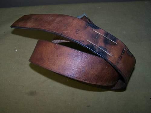 German ww1 belt restoring