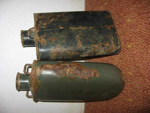 need help for cleaning enameled ww1 canteens