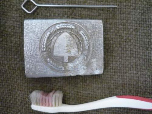 Cleaning and Restoring Belt buckle 1st Part