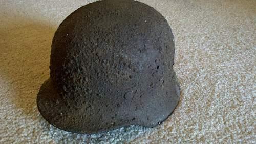 relic helmet rust removal