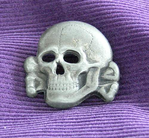 499/41 Skull with Glued Pins