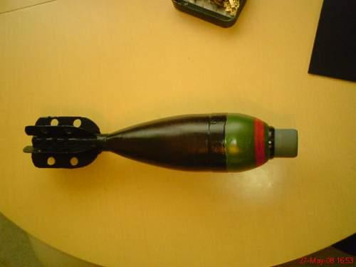 3in mortar round restoration