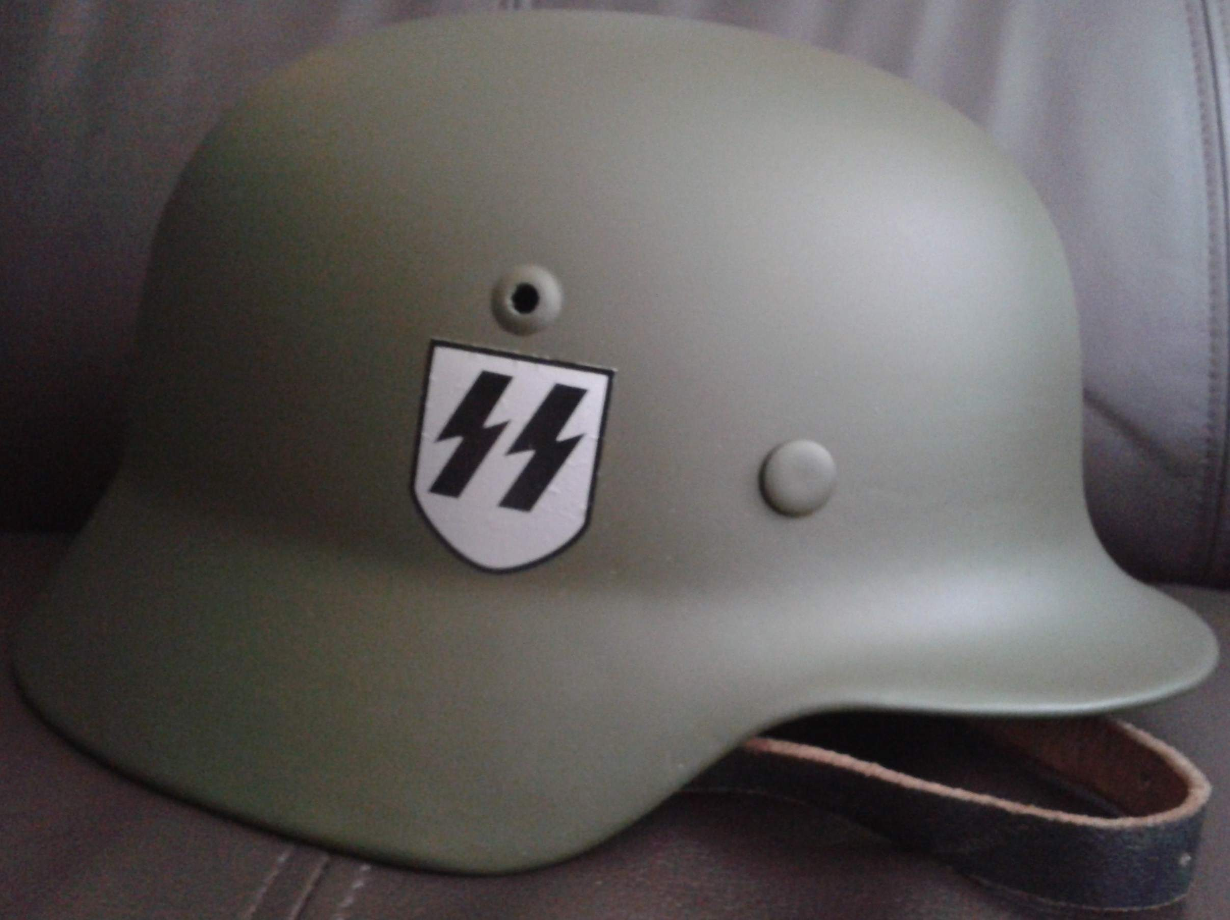WW2 German Helmet Shell Dome Acceptance Stamp from the