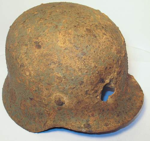 Battle Damaged M40 Relic Helmet: Restoration Candidate?