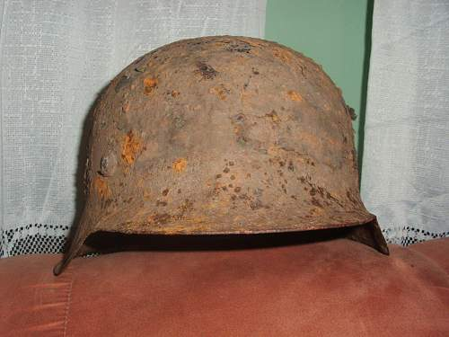 M42 Relic Helmet With Camo Cover Remains SS? Preservation Advice