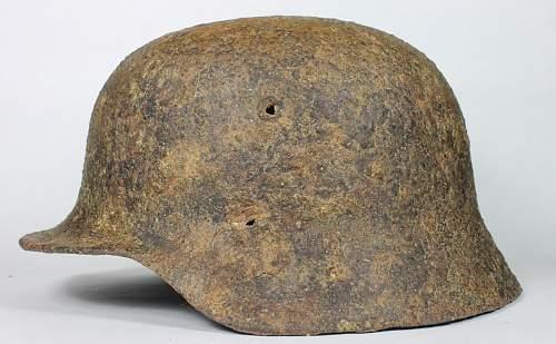 Battle Damaged M40 Relic Helmet: Restoration Candidate?