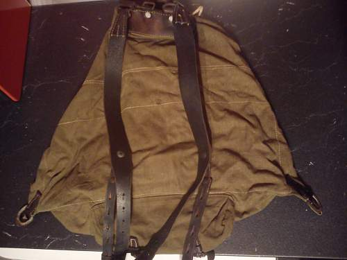 Preserving leather on rucksack